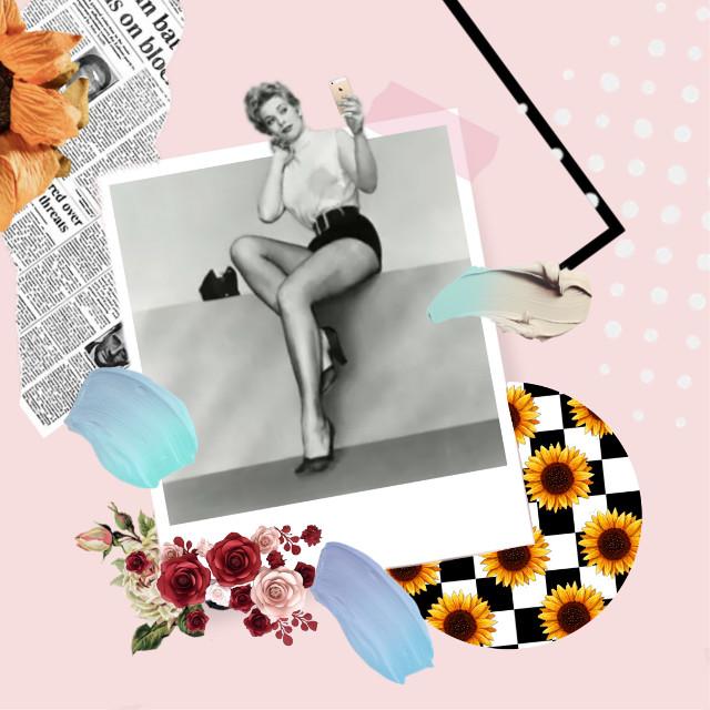 Vintage selfie #freetoedit #myedit #creative #popart #artistic #collage #vintage #retro