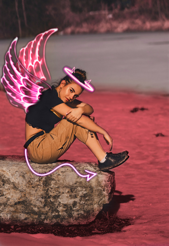 #freetoedit Angele? #angle #satan