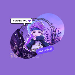 bts aesthetic purplethemed editbyme loveyourselfbts freetoedit