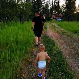 freetoedit daddysboy fatherandson cute walking