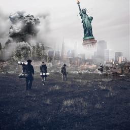 freetoedit adventure war unitedstates statueofliberty