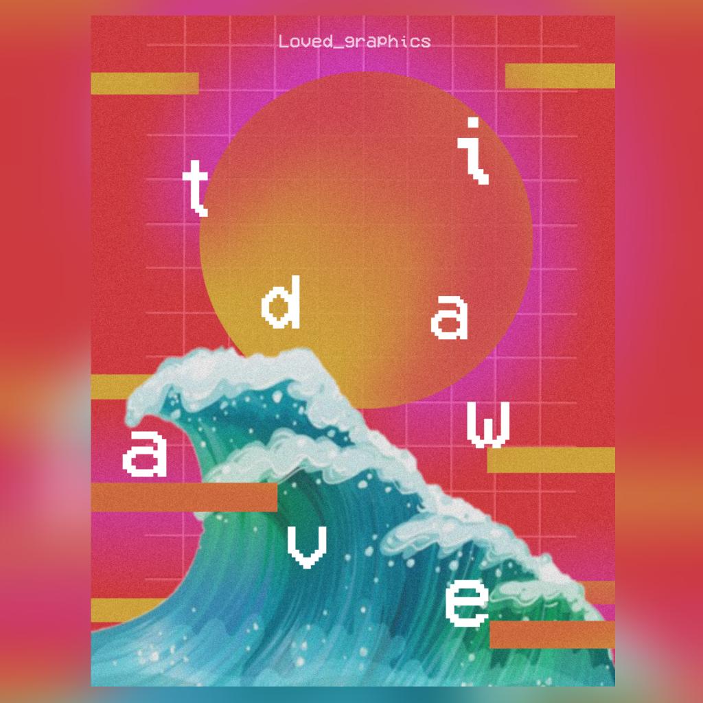 Tidal wave   #wave #retro #poster #design