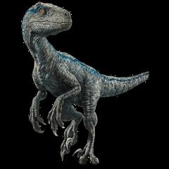 blue velociraptor raptor jurrasicworld freetoedit