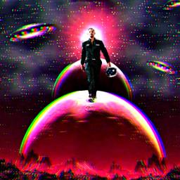 freetoedit glitch surreal planets willsmith