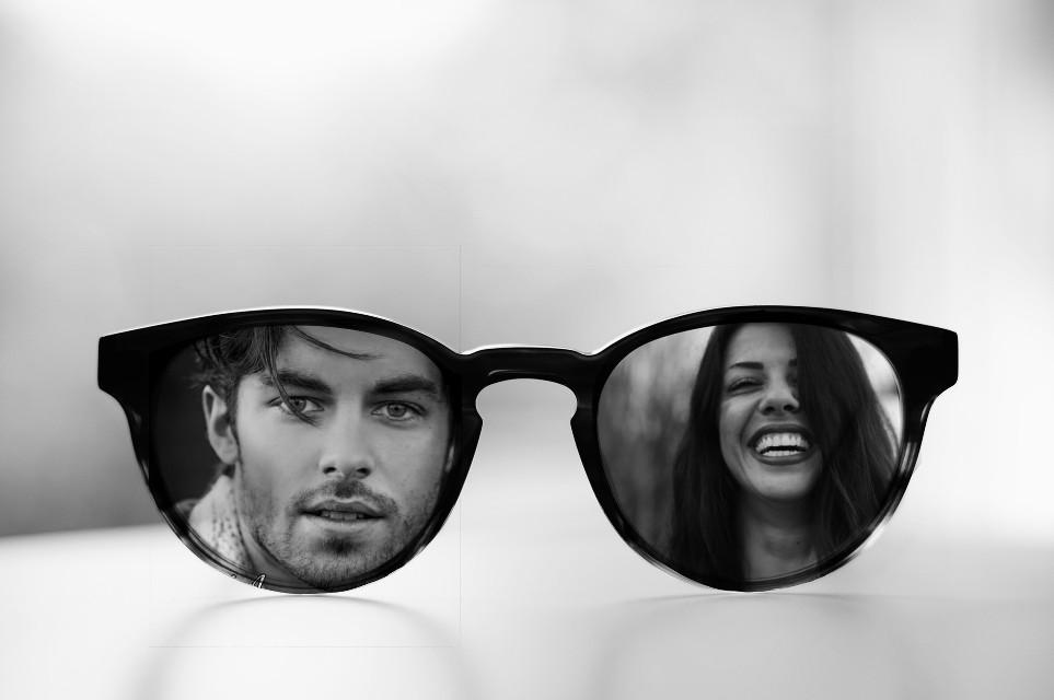 #freetoedit #man #women #love #glasses