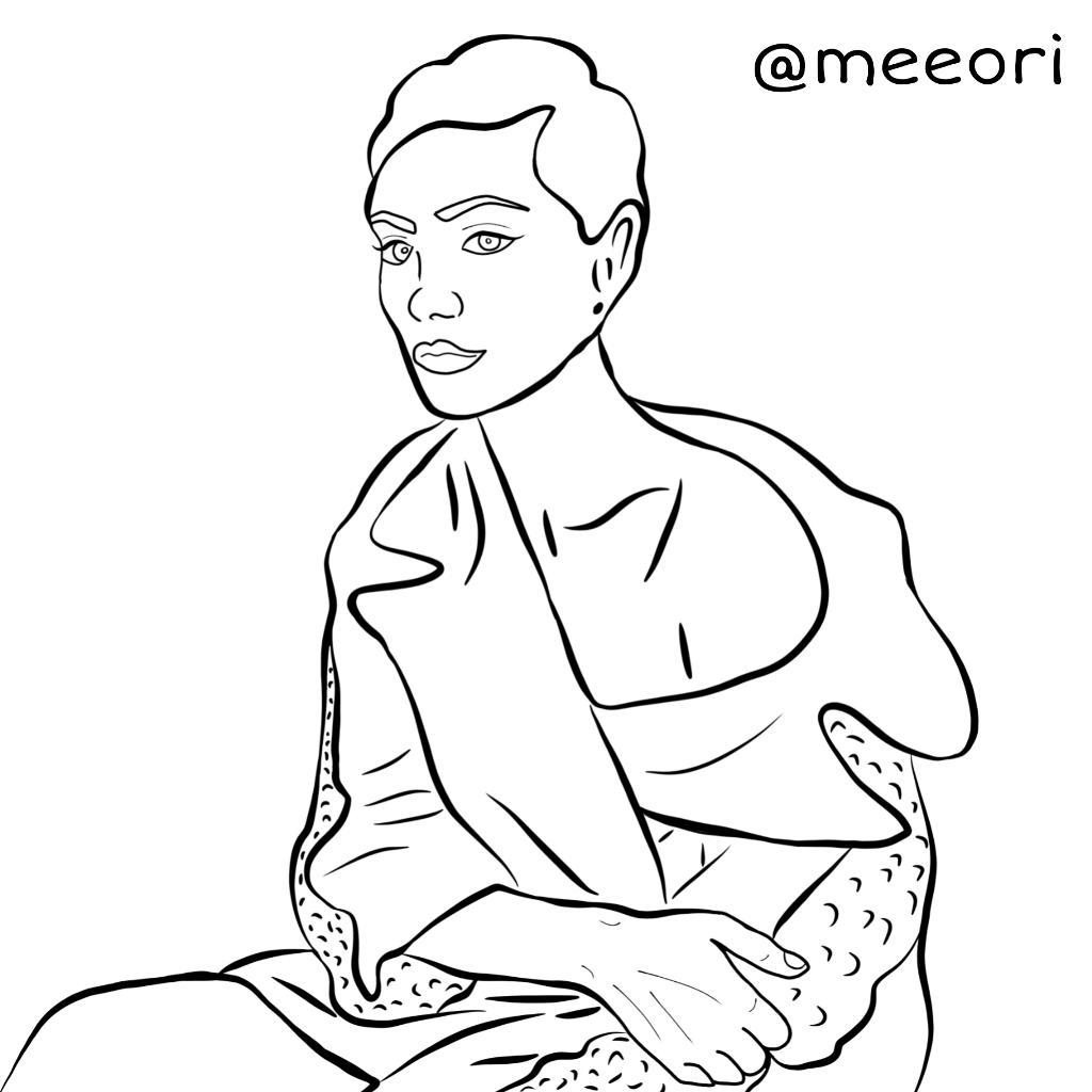 phoebetonkin phoebe draw art outline line actor Backgro