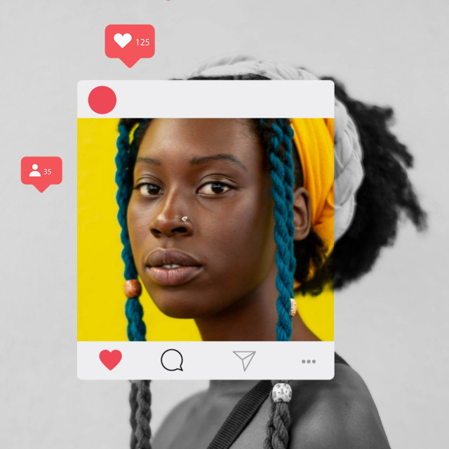 #freetoedit #beautiful #lady #instafram #frame #love #react #colourful
