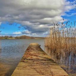 nature landscape lake clouds photograpy