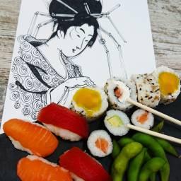 pedreguer drawing sushi foodporn