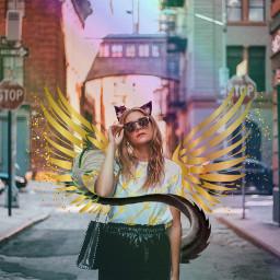 freetoedit rainbow goldengirl lovetoedit