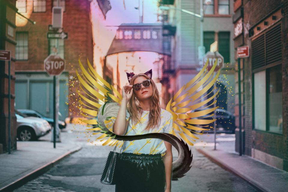 #freetoedit #rainbow #goldengirl #lovetoedit