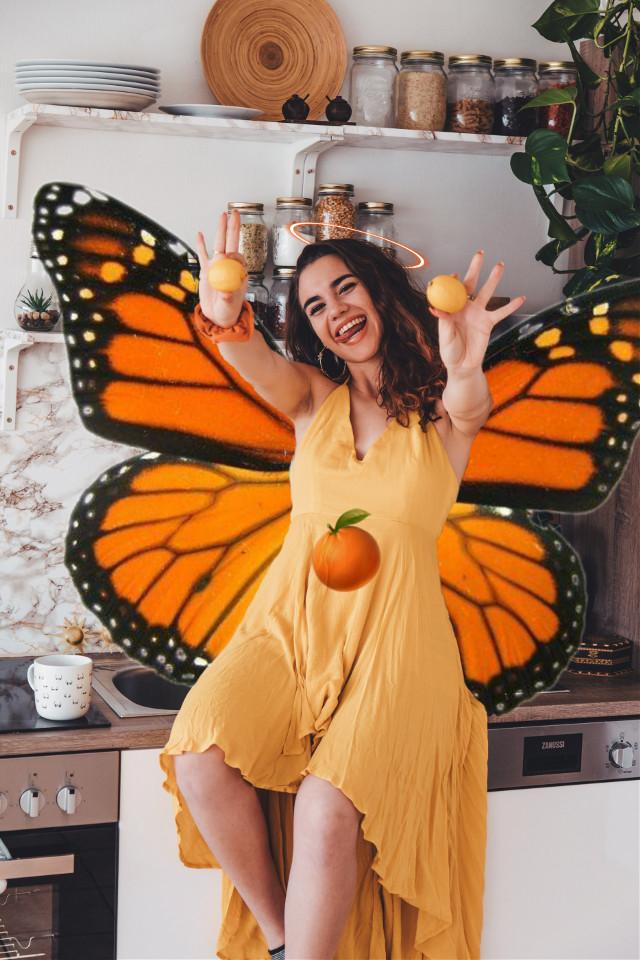 #freetoedit #fruit #oranges #beautifulwoman