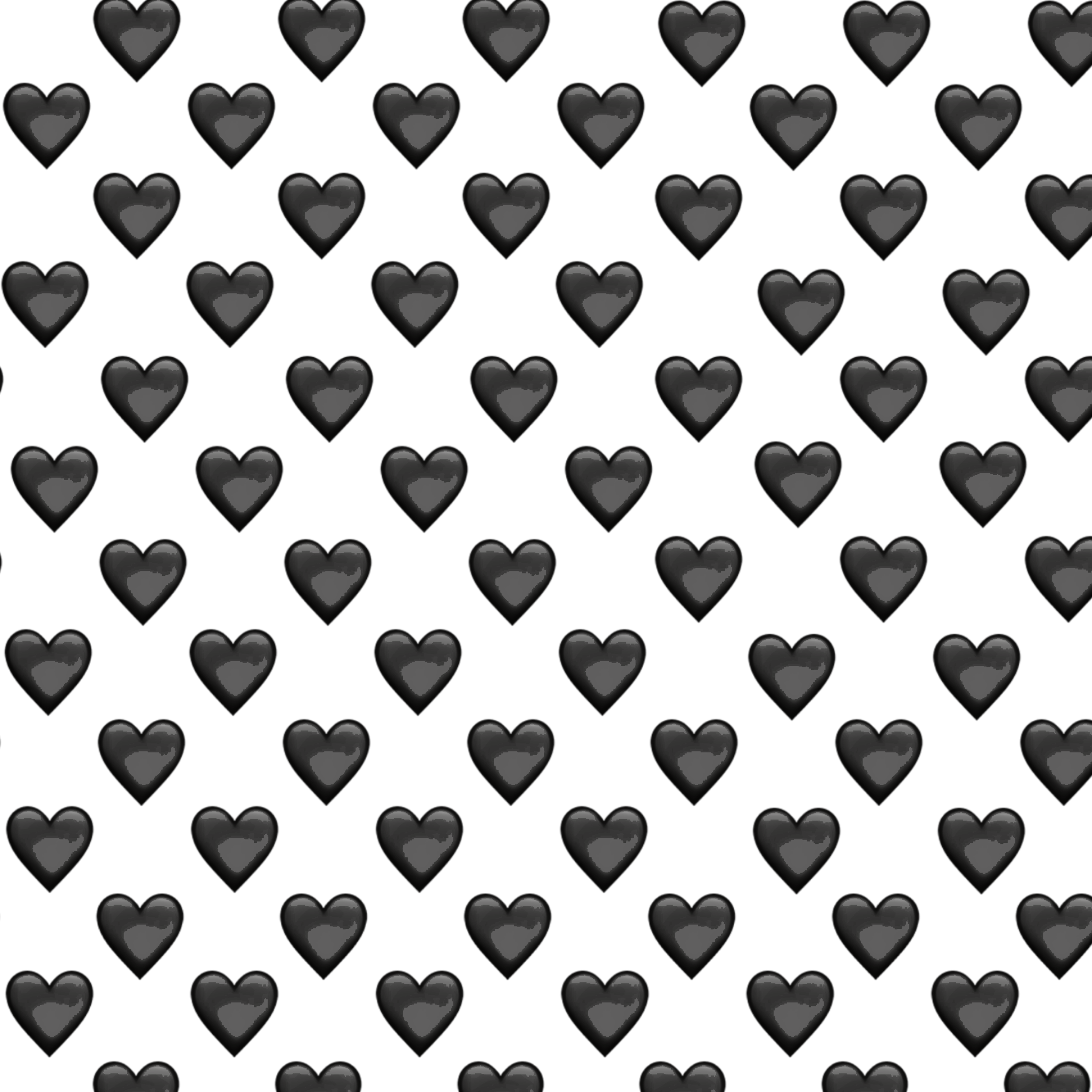 Wallpaper Black Heart Emoji