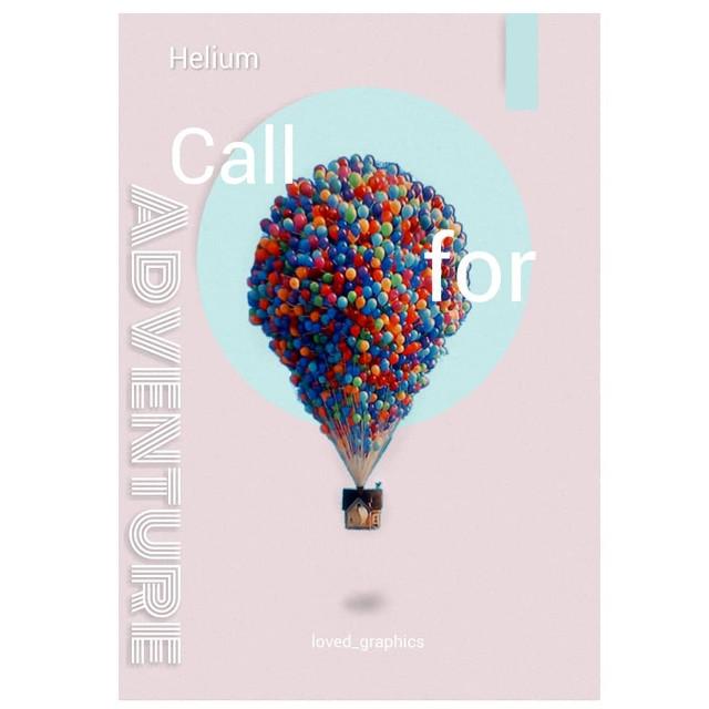 Helium  #balloon #up #disney #pixer #house #poster #posterdesign #design #graphics