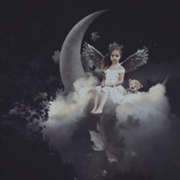 freetoedit doubleexposure dreamy fantasy darknight