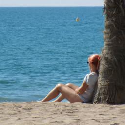 relaxing onthebeach relaxtime beach sunday freetoedit