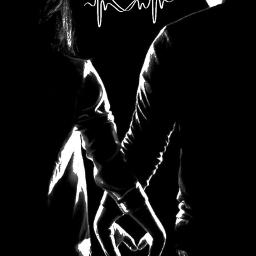 freetoedit lovepulse blackandwhite black monochrome