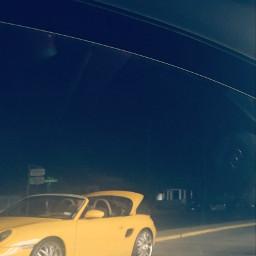 nightphotography automobile yellow car myphotography