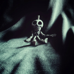 myphotography toy skeleton skull dark freetoedit