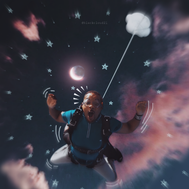 #ecwillsmithsbucketlist #madewithpicsart #madebyme #myedit #clouds #night #stars #sky #magical #parachute @picsart Op from @willsmithsbucketlist