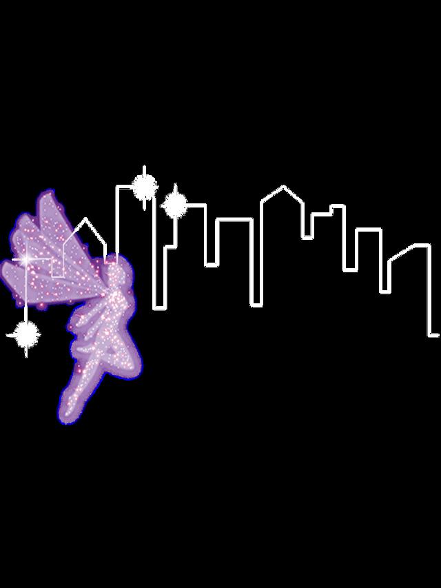 #ftestickers #fantasyart #cityview #fairy #linedrawing
