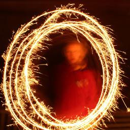 freetoedit lighttrail human fireworks circle pcmysiblings