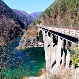 bridge valvestino lake. parcoaltogardabresciano gargnano