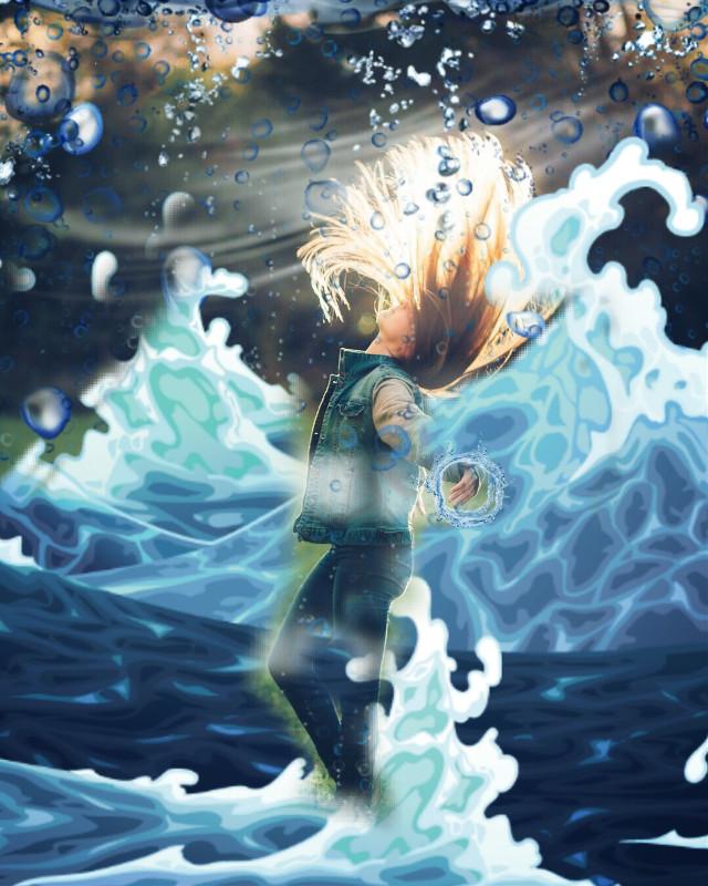 #freetoedit #girl #water #rain
