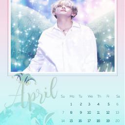 freetoedit ircaprilcalendar aprilcalendar bts kimtaehyung