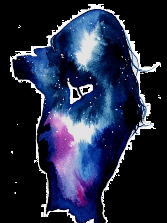 #ftestickers #woman #galaxy #stars #doubleexposure