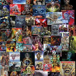 ironmaiden eddiethehead collage nearlywednesday metalmusic