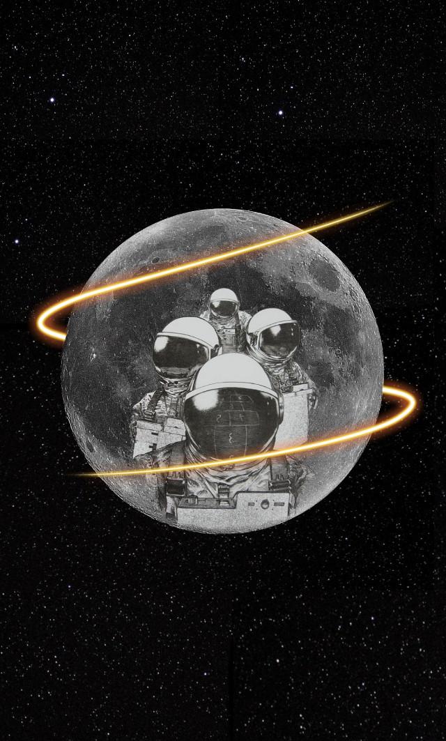 #moon #sky #stars #galaxy #black