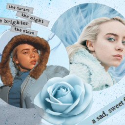 billie billieilish eilish blue blau freetoedit