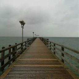 freetoedit bridgeoverwaters bridge sea darkclouds