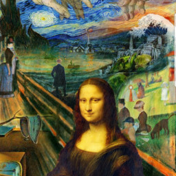 scream starrynight artist monet monalisa
