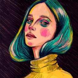 freetoedit illustration artistic color girl