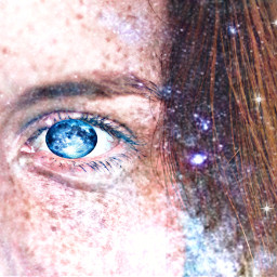freetoedit galaxy mooneyes eyes galaxyhair
