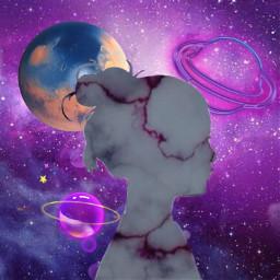 freetoedit space girl spacegirl marmol