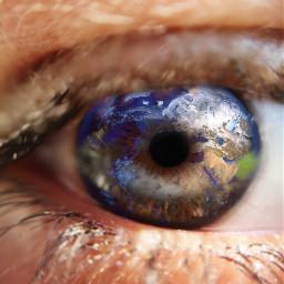 picsart doubleexposure myart eye world