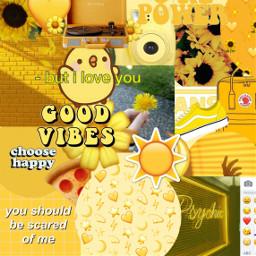 freetoedit aesthetic aesthetictumblr yellow sunflower ircfanartofkai