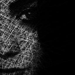 freetoedit woman face lines scratches scribble scribbles scribbleart