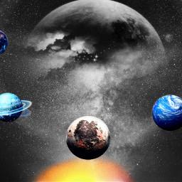 freetoedit planet colorfull eccolorsplasheffect colorsplasheffect