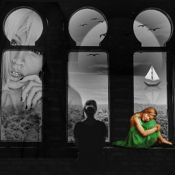 freetoedit intothegreen surrealism fantasy monochrome ircintothegreen