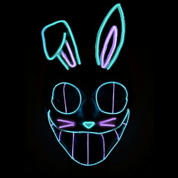 mask bunny face rabbit light freetoedit srceasterbunny