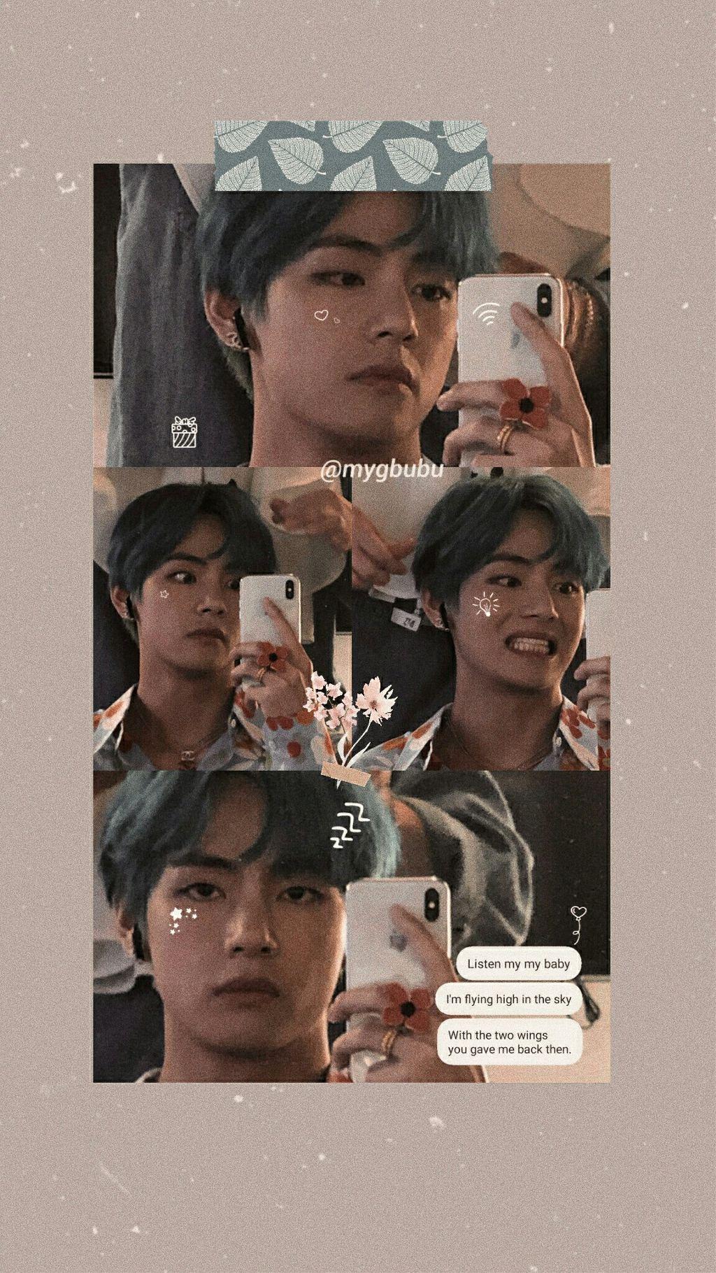 Taehyung Wallpaper Aesthetic Bts Btsv V Tae Taehyun