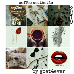 coffee aesthetic collage