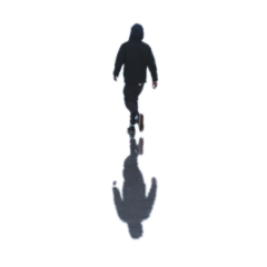 ftestickers man walking silhouette shadoweffect freetoedit