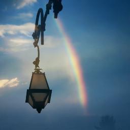 doubleexposure springtime lamp_art sky rainbow