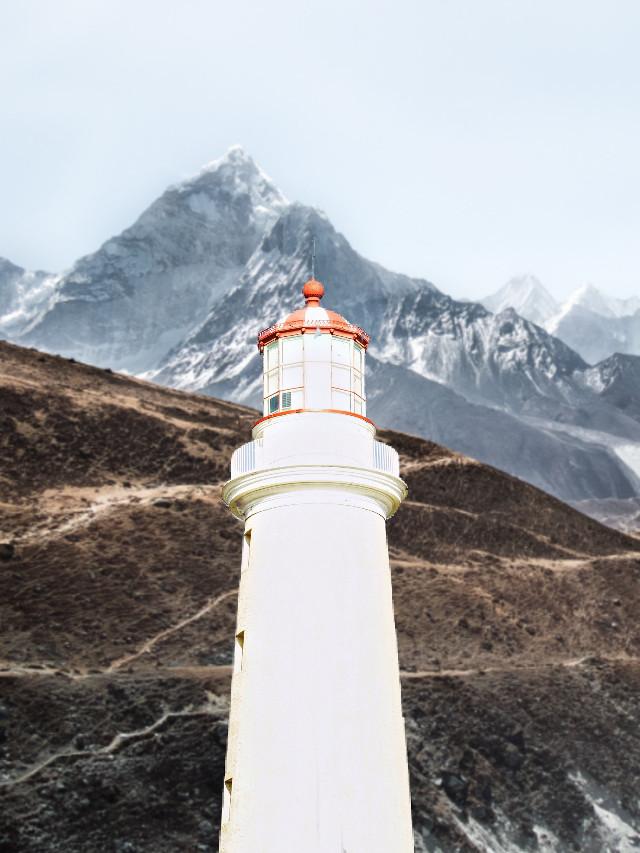 #freetoedit #lighthouse #mteverest #everest