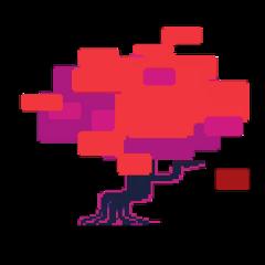 sticker deltarune tree pixel freetoedit